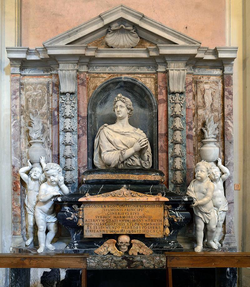 Eleonora Buoncompagni's tomb in Santi Bonifacio e Alessio all'aventino.jpg