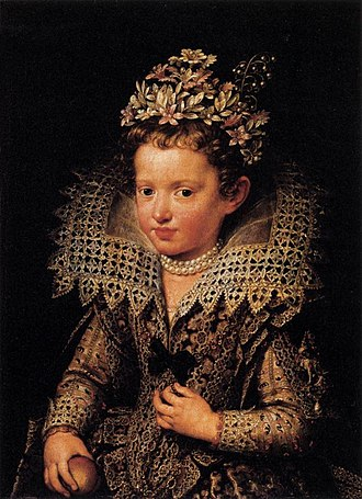 Eleonora Gonzaga (1598–1655) - Eleonora as a child, by Frans Pourbus the Younger, ca. 1605. Palazzo Pitti, Florence.