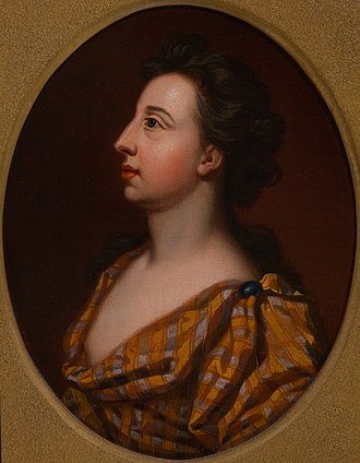 """Elizabeth Barry - Elizabeth Barry (after Sir Godfrey Kneller) changed """"like Nature which she represents, from Passion to Passion, from Extream to Extream, with piercing Force and with easy Grace""""."""