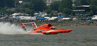 Hydroplane (boat) fast motorboat, where the hull shape is such that at speed, the weight of the boat is supported by planing forces rather than simple buoyancy