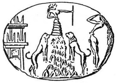 Emprunte d'un sceau de Cnossos