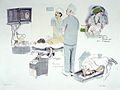 Endoscopy operations. Colour lithograph by Virginia Powell, Wellcome L0028329.jpg
