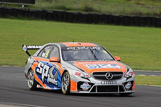 Erebus Motorsport - Mercedes-Benz E63 W212 of Maro Engel at the Sydney Motorsport Park test day in 2013.
