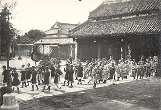 Bảo Đại - Inthronisation ceremony of the emperor at the Imperial City, Huế