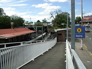 Epping railway station, Sydney - Beecroft Road exit circa 2006, this exit has since been rebuilt
