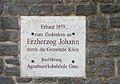 Erzherzog Johann plaque at Großklein.jpg