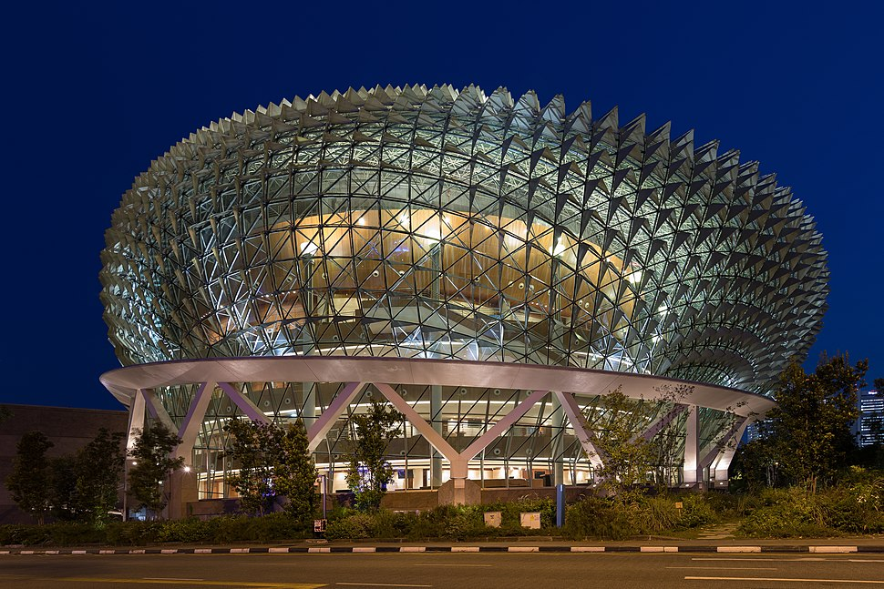 Esplanade Theatres on the Bay Singapore at blue hour