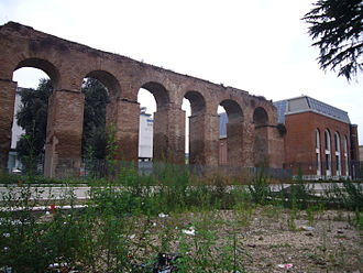 Roman aqueduct - Ruins of the Aqua Anio Vetus, a Roman aqueduct built in 272 BC