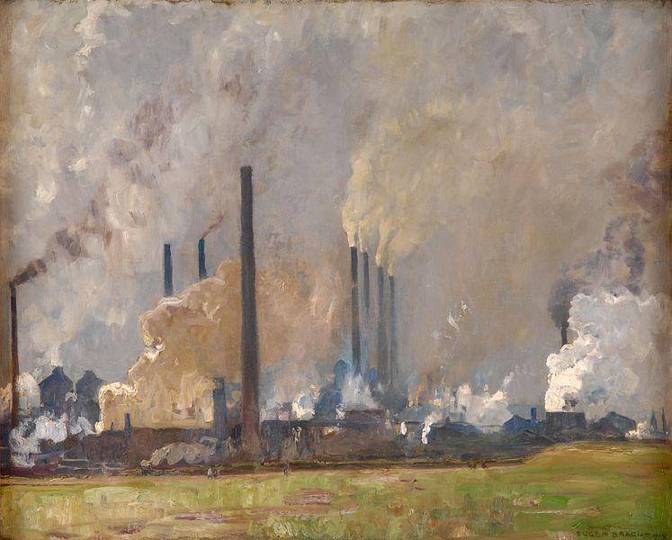 Energie et développement - exemple d'externalité négative la fumée d'une usine et les pollutions industrielles