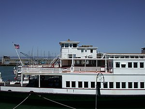Eureka (ferryboat) - Eureka docked at Hyde Street Pier