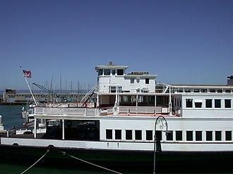 Eureka (ferryboat) - Eureka docked at Hyde Street Pier