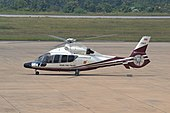Eurocopter EC155 of the Royal Thai Police at Khon Kaen-KKC (10489802034).jpg