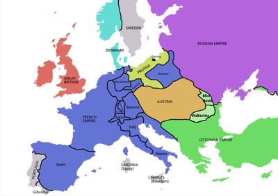 Blått, under fransk kontroll