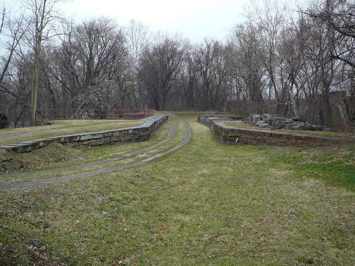 Evitts Creek Aqueduct C and O Canal from above