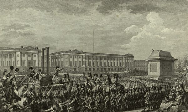 """Day of 21 January 1793 the death of Louis Capet on the Place de la Revolution"" - French engraving. Execution of Louis XVI.jpg"