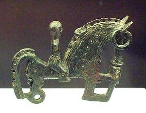 Celtiberians - Bronze Celtiberian fibula representing a warrior (3rd–2nd century BC)