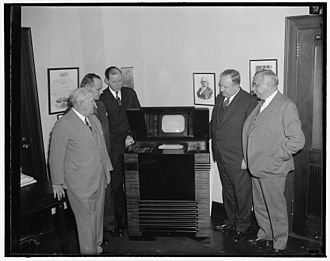 Federal Communications Commission - FCC Commissioners inspect the latest in television, December 1, 1939.