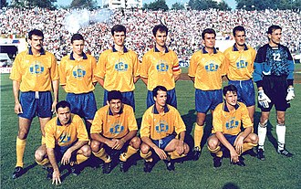 FC Petrolul Ploiești - Petrolul squad that won the Romanian Cup in 1995.