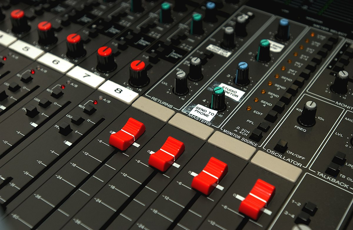 Table de mixage wikip dia - Table de mixage professionnelle studio ...