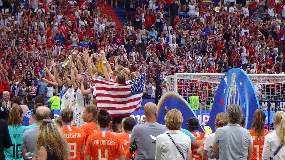 FIFA Women's World Cup 2019 Final - US team on podium (4)