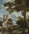 FISHERMEN ON A RIVER BANK BEFORE THE RUINS OF THE CHAPEL OF EYCKENDYNEN.PNG
