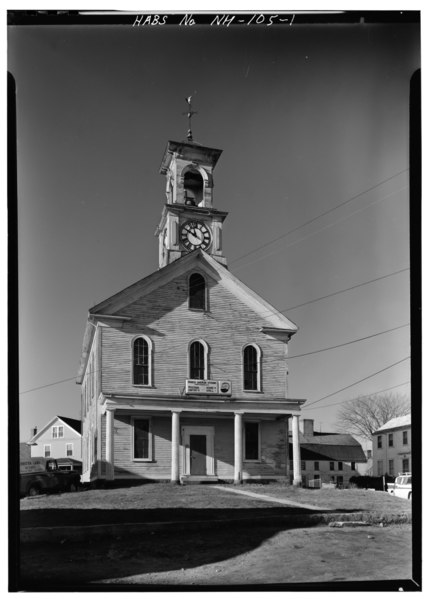 File:FRONT, GENERAL VIEW - South Meeting House, Meeting House Hill, facing Marcy Street, Portsmouth, Rockingham County, NH HABS NH,8-PORT,76-1.tif
