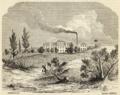 Fabrica de lanificios da Arrentella - Archivo Pittoresco (Tomo V, n.º 21).png