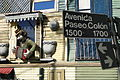 Facade and Street Sign with Sculpture - La Boca - Buenos Aires - Argentina.jpg
