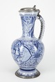 Fajans, kanna med lock, 1700-tal - Hallwylska museet - 90463.tif
