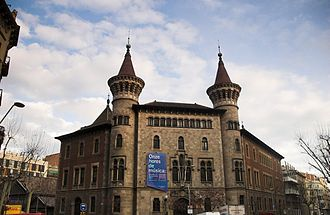 Municipal Conservatory of Barcelona - The Conservatory building, designed by Antoni de Falguera.