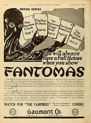 Fantômas (1913 serial) - Advertisement (1916)