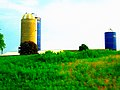 Farm with Three Silos two are Harvestore® Silos - panoramio.jpg