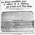 Faximil del períodico el Argentino mostrando la fachada de la Biblioteca Pública de la Universidad Nacional de La Plata..png
