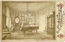 Ferdinand Hiller in seinem Musikzimmer in Köln (1881) (Quelle: Wikimedia)