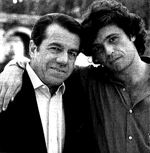 Claudio Amendola - Claudio Amendola with his father Ferruccio (1992)