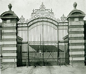 1912 Michigan Wolverines football team - Ferry Field gate, c. 1912