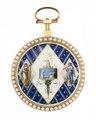 Fickur med boett av guld med figurscener i emalj, 1790 - Hallwylska museet - 110451.tif