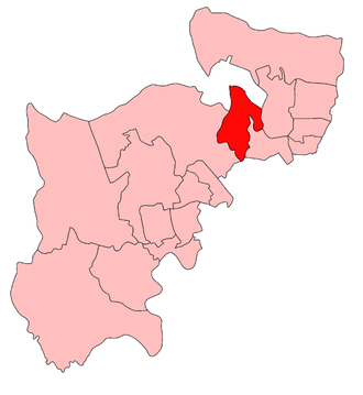 Finchley (UK Parliament constituency) - Finchley within the parliamentary county of Middlesex, boundaries used 1918–45