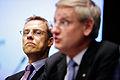 Finlands och Sveriges utrikesminstrar - Alexander Stubb och Carl Bildt - vid Nordiska radets session i Helsingfors. 2008-10-27.jpg