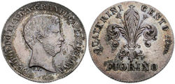 One florin by Leopold II
