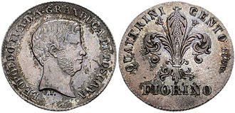Tuscan florin - Image: Fiorino 1856
