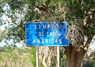 La Isabela - Sign of the first church of the Americas