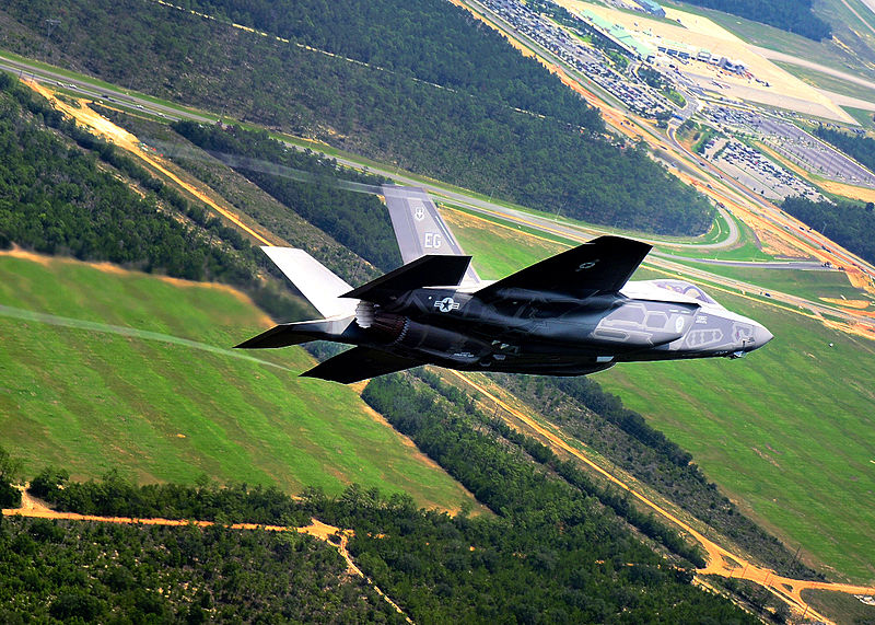 First F-35 Lightning Arrives at Eglin AFB Florida.jpg