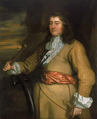 Flagmen of Lowestoft - Portrait of George Monck, 1st Duke of Albemarle by Sir Peter Lely, a typical example of the Flagmen series