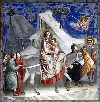 Flight into Egypt - The Flight into Egypt by Giotto di Bondone (1304–06, Scrovegni Chapel, Padua)