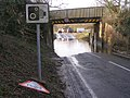 Flooded B3055 beneath the railway bridge, Lymington Junction, New Forest - geograph.org.uk - 302637.jpg