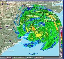 Radar Image Of Hurricane Florence A Few Hours After Landfall On September