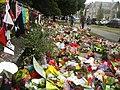 Flower carpet at Christchurch mosque shooting memorial, Thursday 21 March 2019.jpg