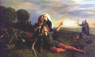 "Legendary saga - Fornalder (""times past""); painting by Peter Nicolai Arbo"