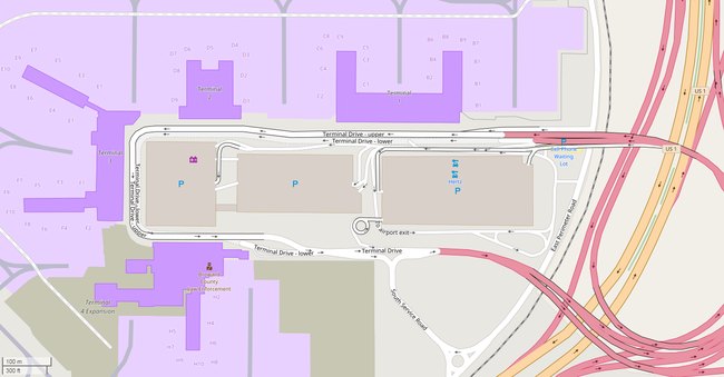 Fort Lauderdale–Hollywood International Airport via OpenStreetMap.png